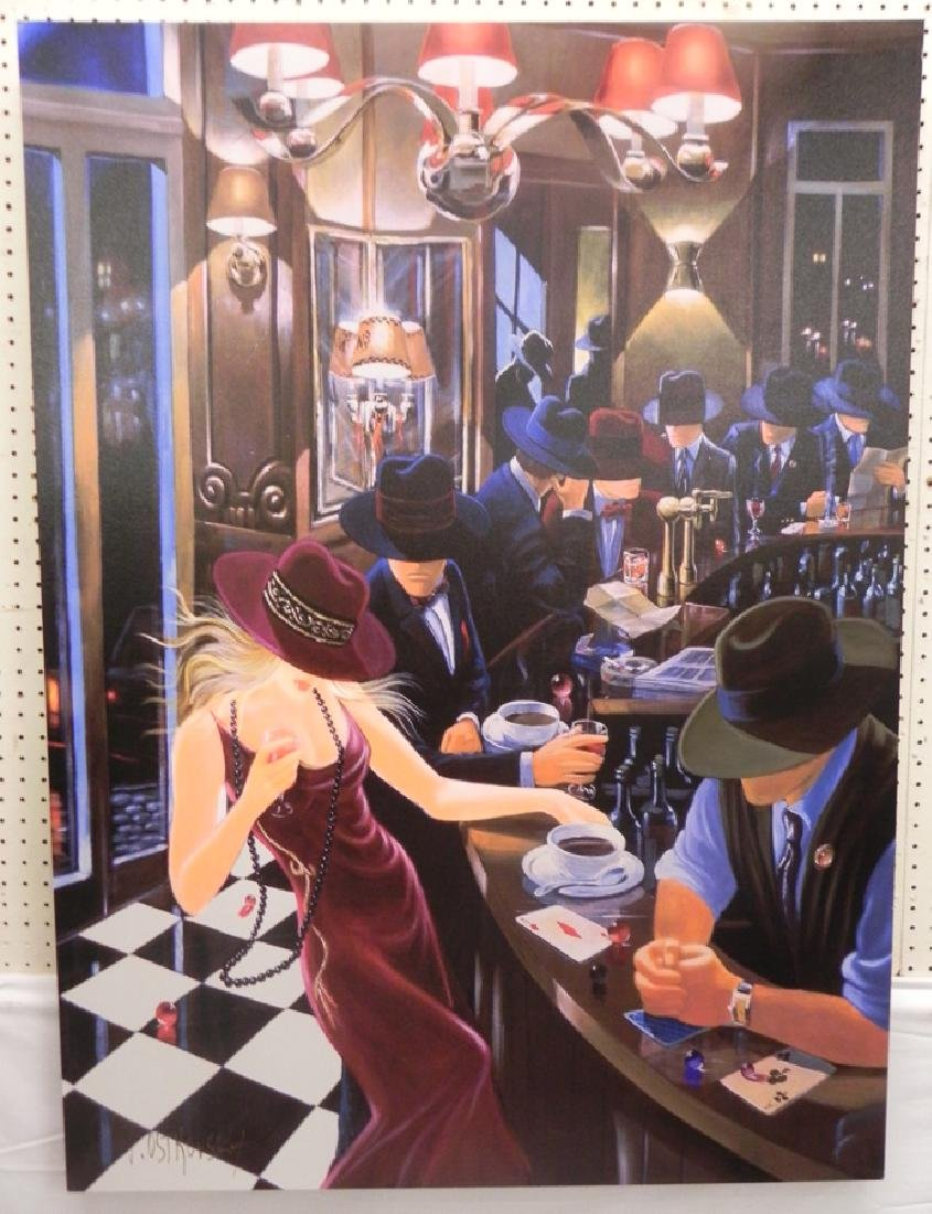 Modern jazz club style painting by Ostrovsky