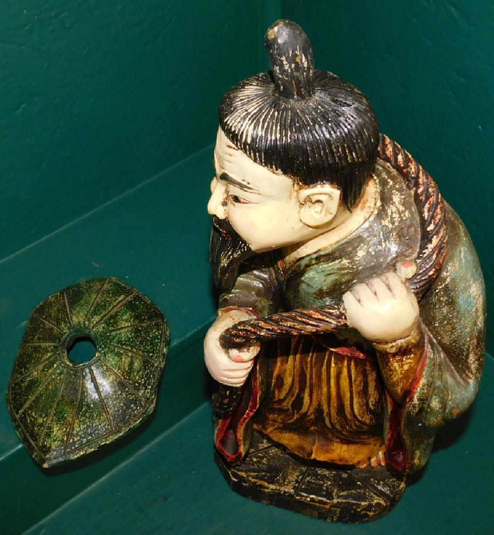 Chinese basa wood figure - 5