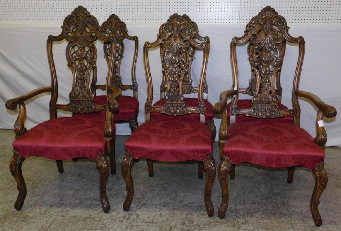 Set of 6 Quarter Sawn oak dining chairs