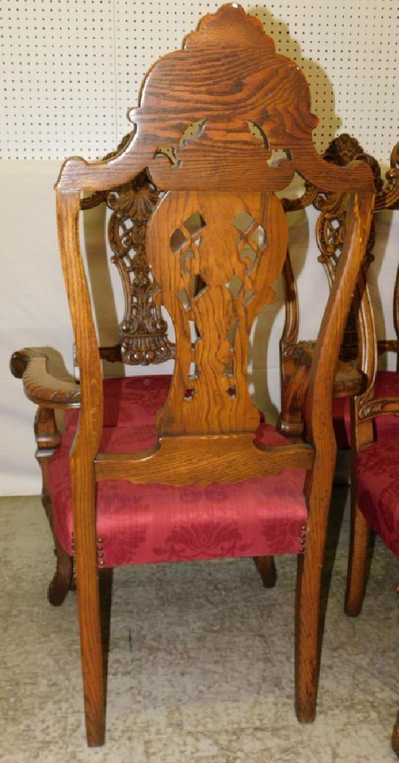 Set of 6 Quarter Sawn oak dining chairs - 4