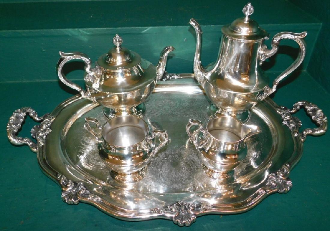 5 piece silver plate tea service