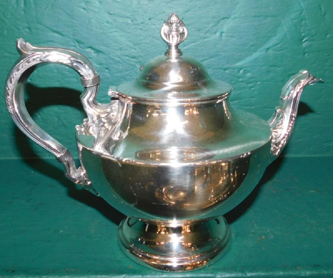 5 piece silver plate tea service - 4