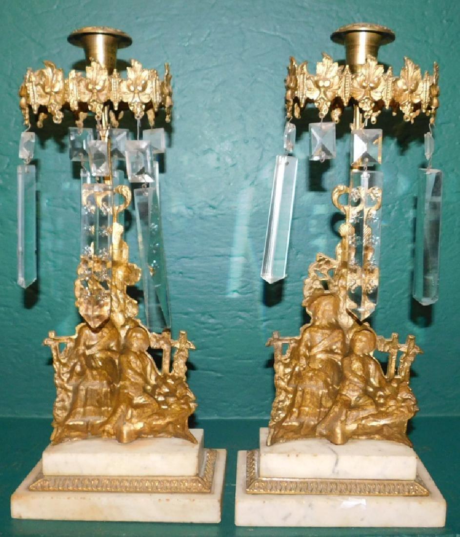 Pair of brass girandoles - 3