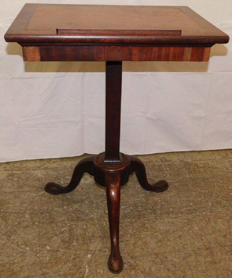 19th C Queen Anne mahogany book stand