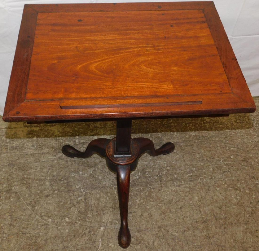 19th C Queen Anne mahogany book stand - 2