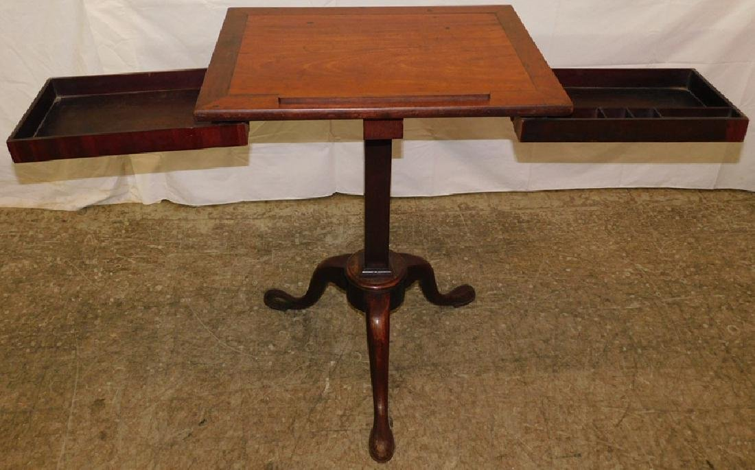 19th C Queen Anne mahogany book stand - 3