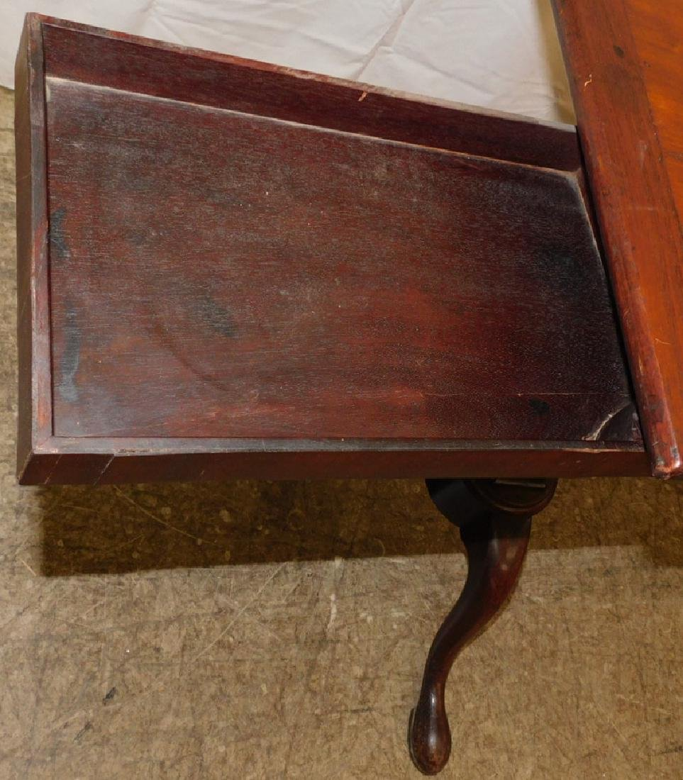 19th C Queen Anne mahogany book stand - 4