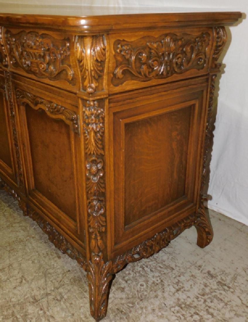 Quarter Sawn oak sideboard - 2