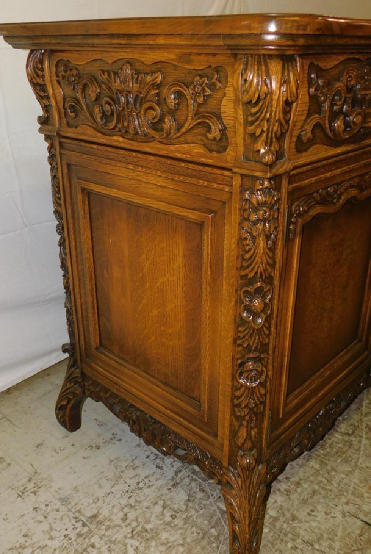 Quarter Sawn oak sideboard - 3