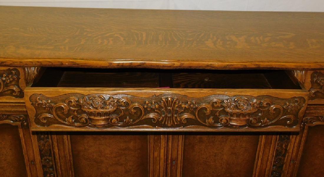 Quarter Sawn oak sideboard - 4