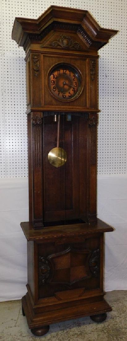 German oak Grandfather clock