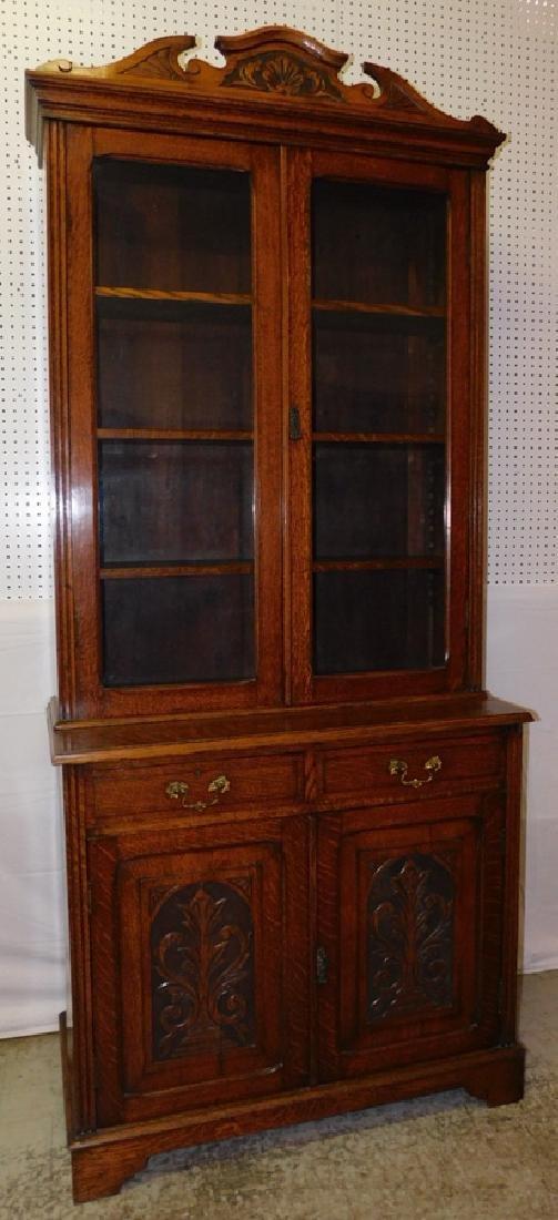 Quarter Sawn oak stepback cupboard