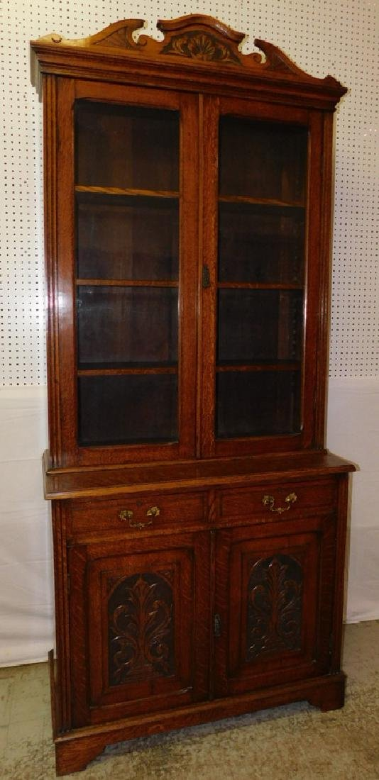 Quarter Sawn oak stepback cupboard - 2