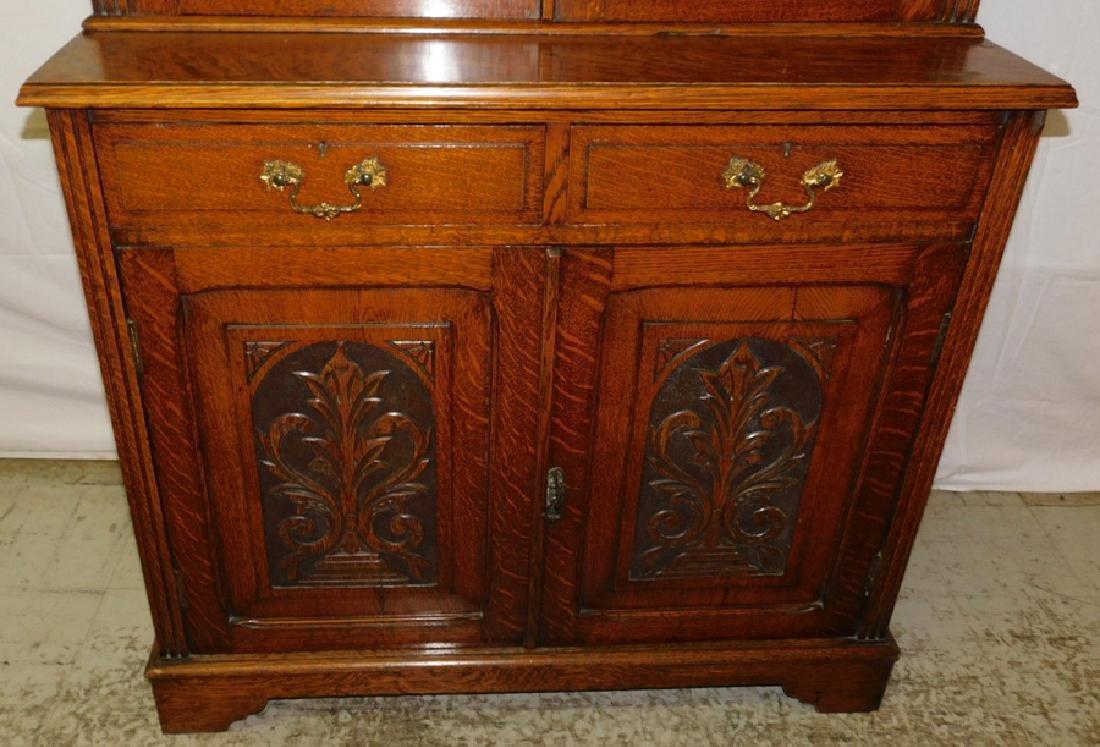 Quarter Sawn oak stepback cupboard - 4