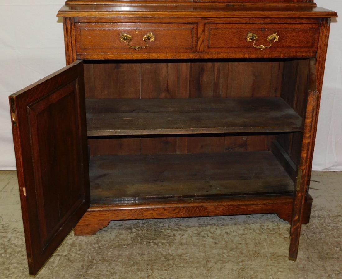 Quarter Sawn oak stepback cupboard - 5
