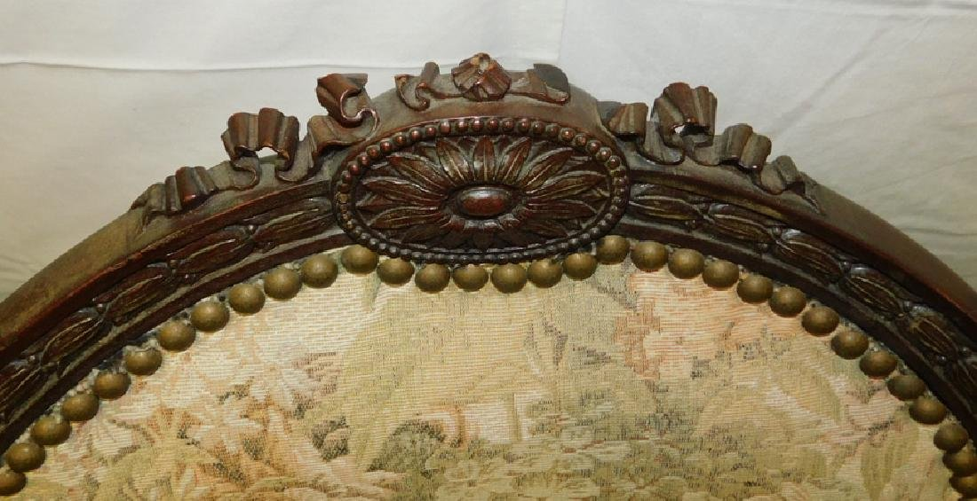 12 French carved dining chairs - 6