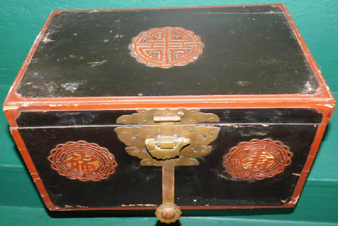 Oriental box with lock - 2