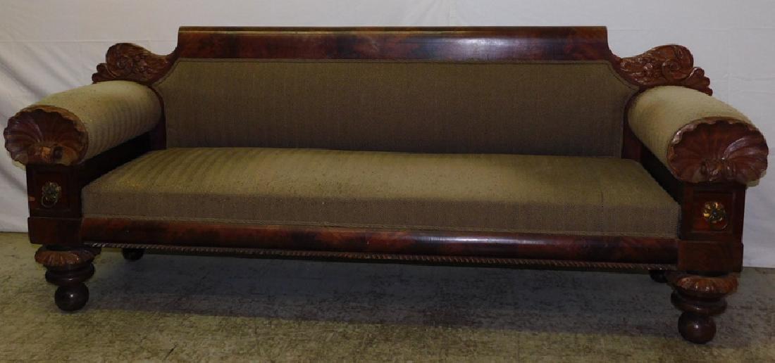 Anthony Quervelle style Empire mahog sofa