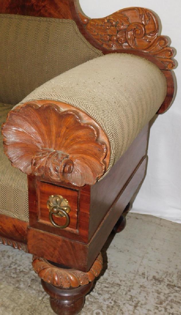 Anthony Quervelle style Empire mahog sofa - 2