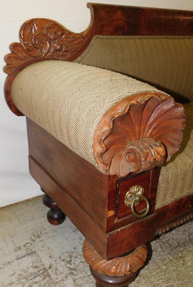 Anthony Quervelle style Empire mahog sofa - 7
