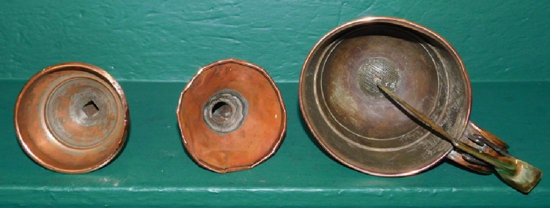 3 Antique copper funnels - 2