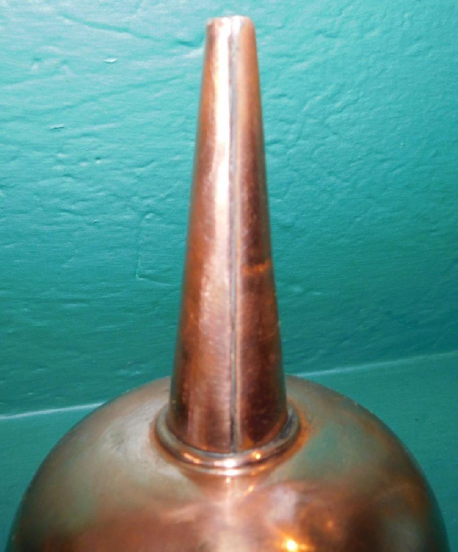 3 Antique copper funnels - 3
