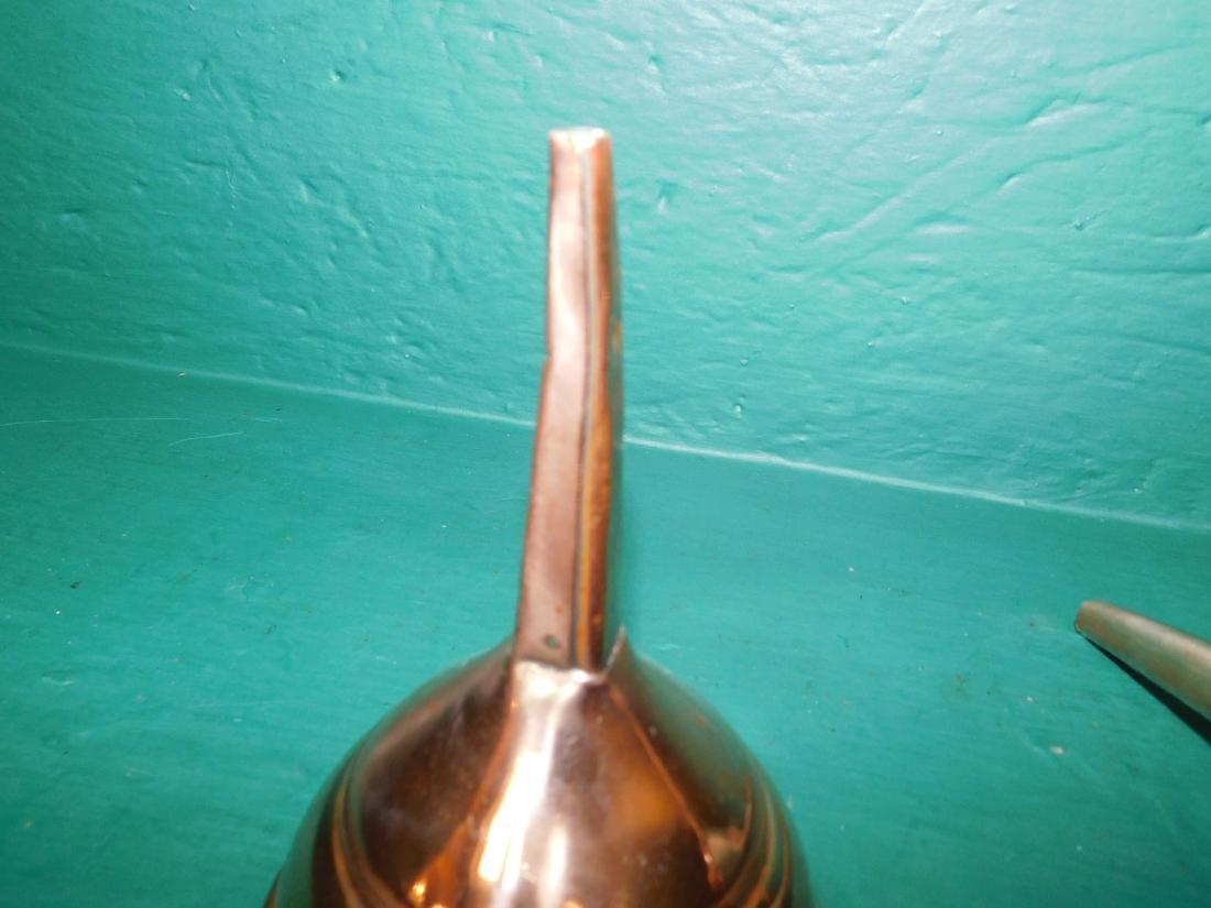 3 Antique copper funnels - 4
