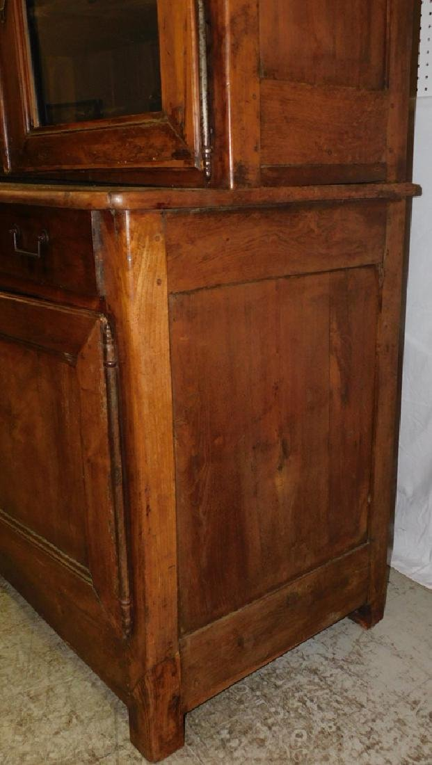 18th C cherry French glass front cupboard - 3