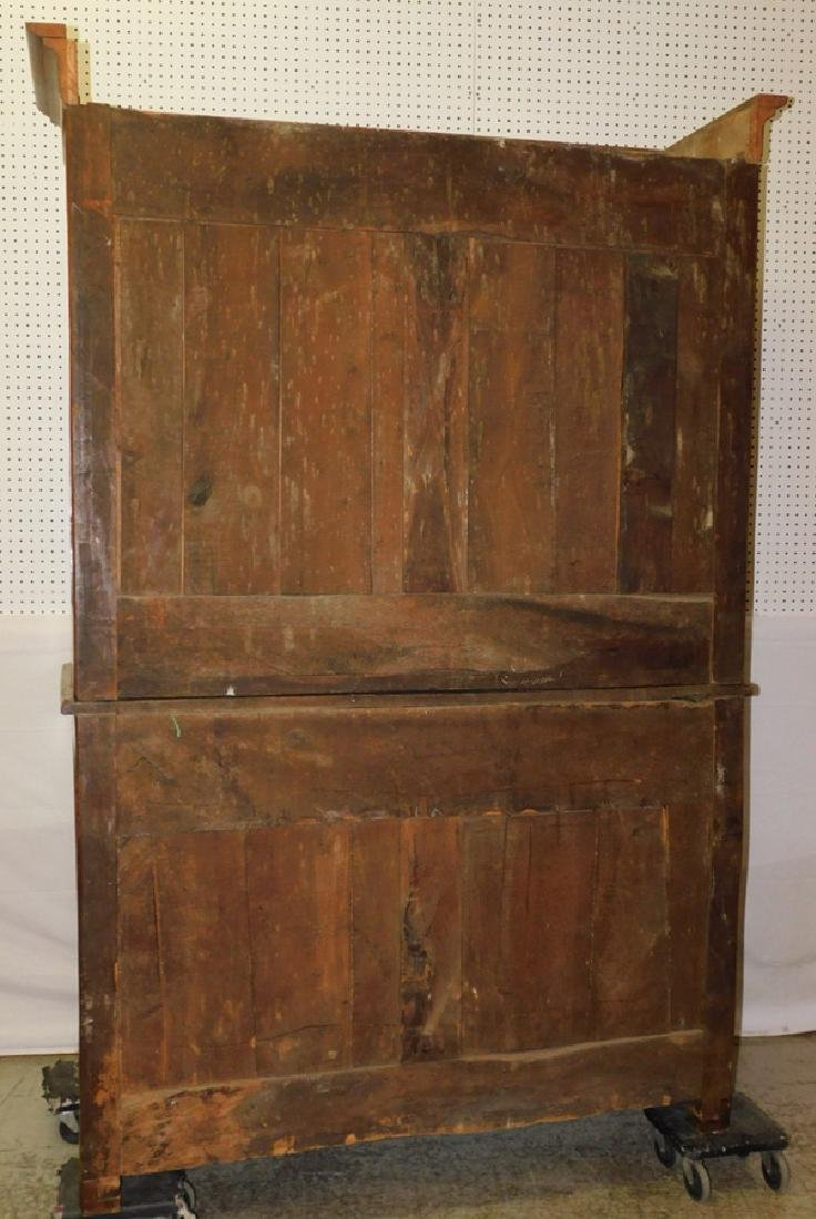18th C cherry French glass front cupboard - 5