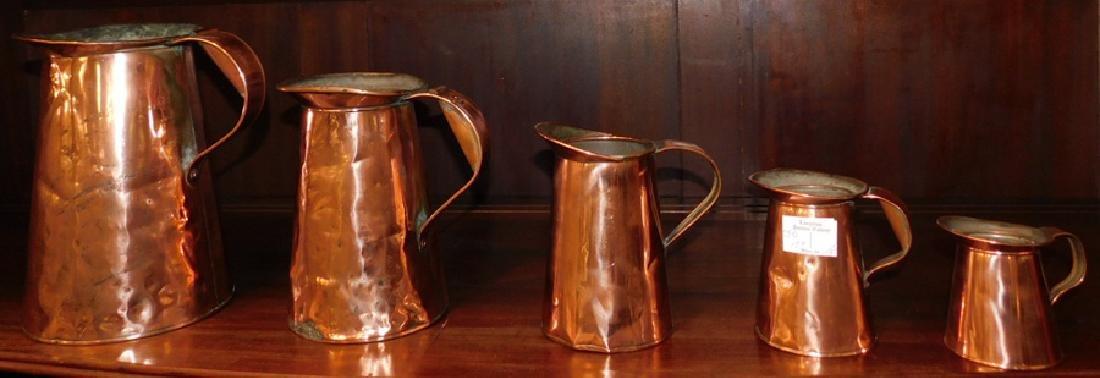 5 graduated copper measures