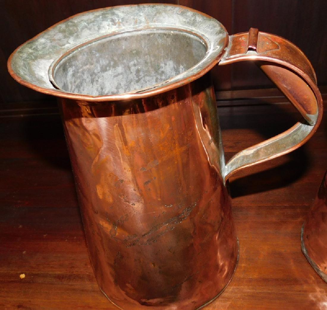 5 graduated copper measures - 2