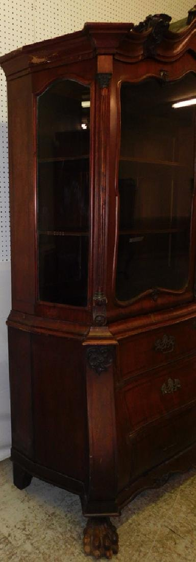 19th C Italian bombay gl front carved cupboard - 2