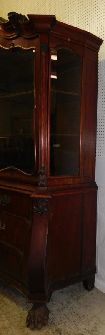 19th C Italian bombay gl front carved cupboard - 3