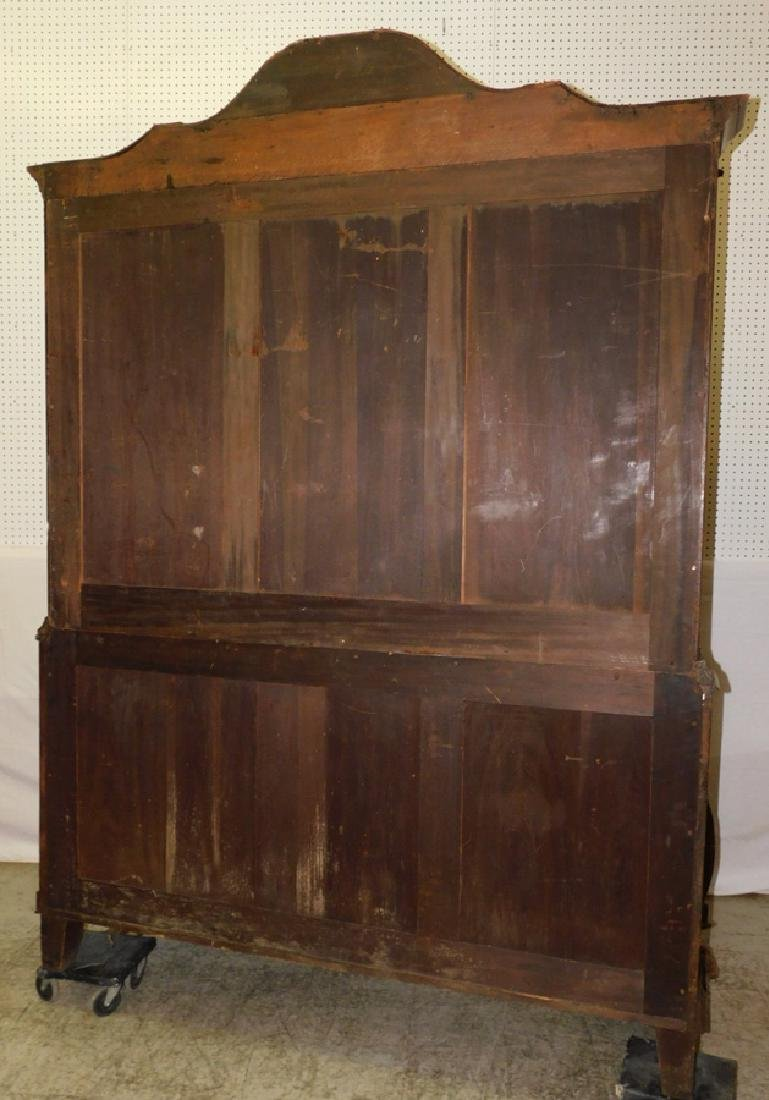 19th C Italian bombay gl front carved cupboard - 4