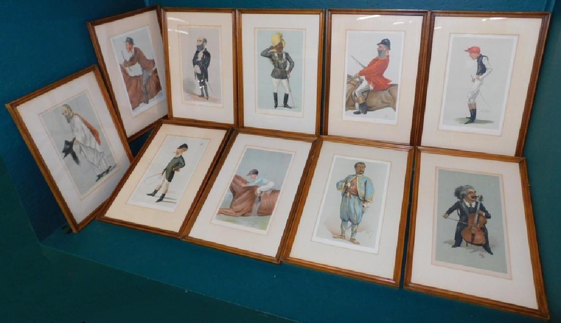 10 English colored comical prints/ engravings
