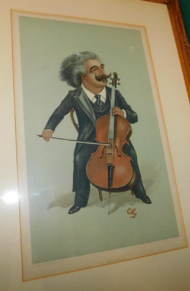 10 English colored comical prints/ engravings - 2