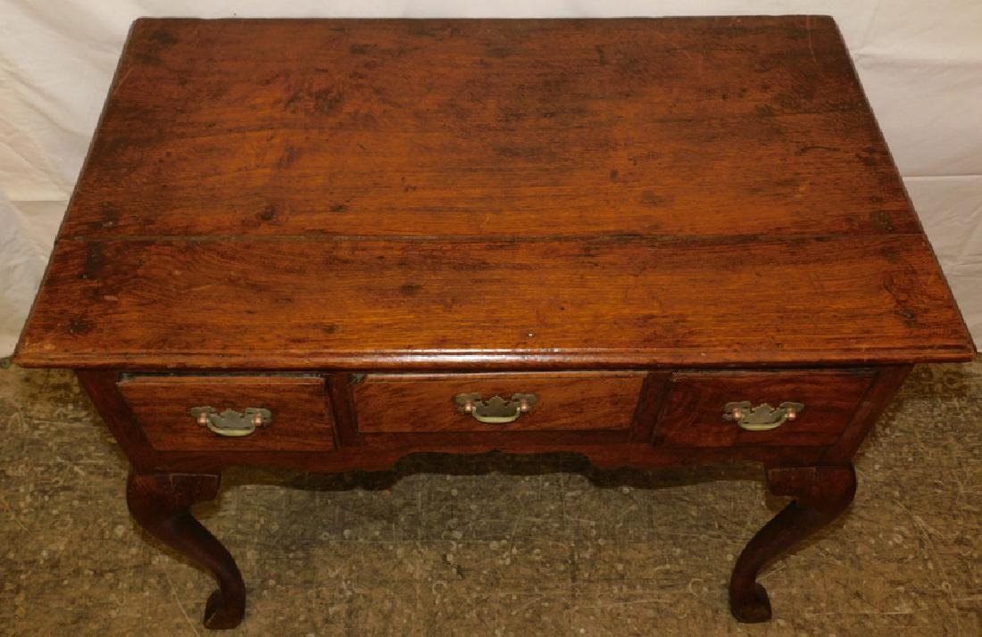 18th C English oak lowboy - 2