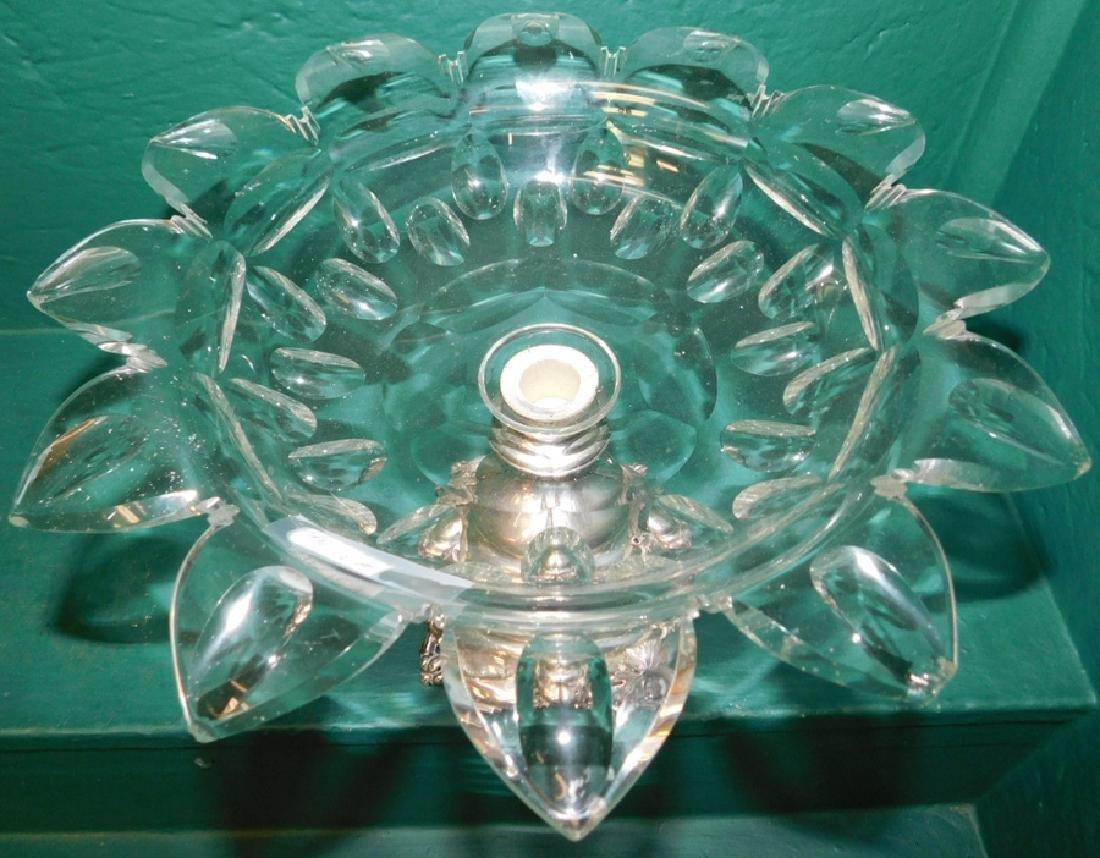 3 piece Dutch 833 silver & Flint glass garniture - 7