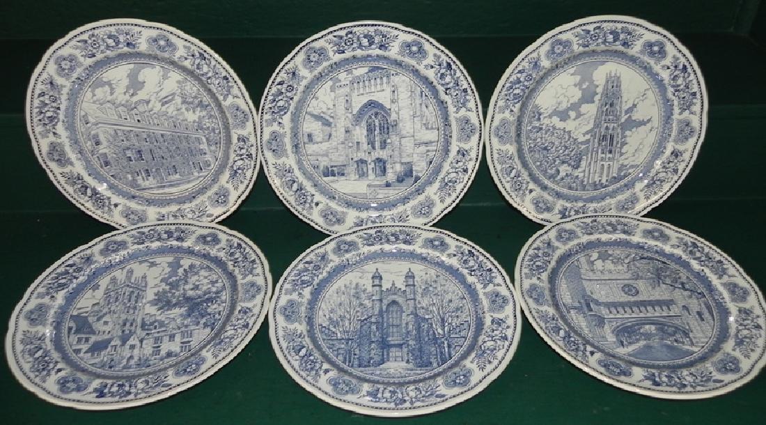 Set of 6 blue transfer plates