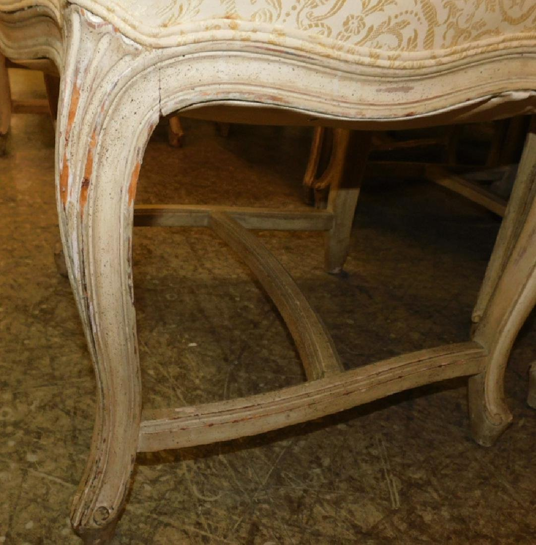 10 French paint decorated & upholstered chairs - 3