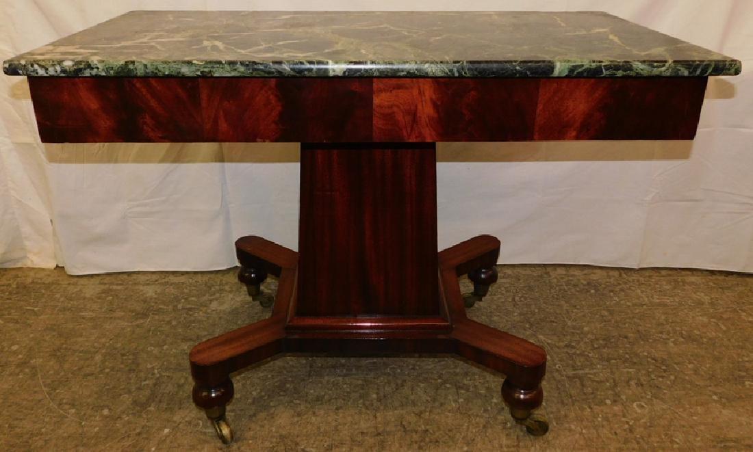Marble top Empire mahogany server