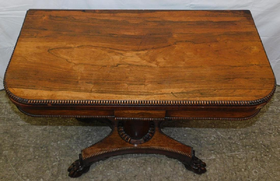 Rosewood Empire game table - 2