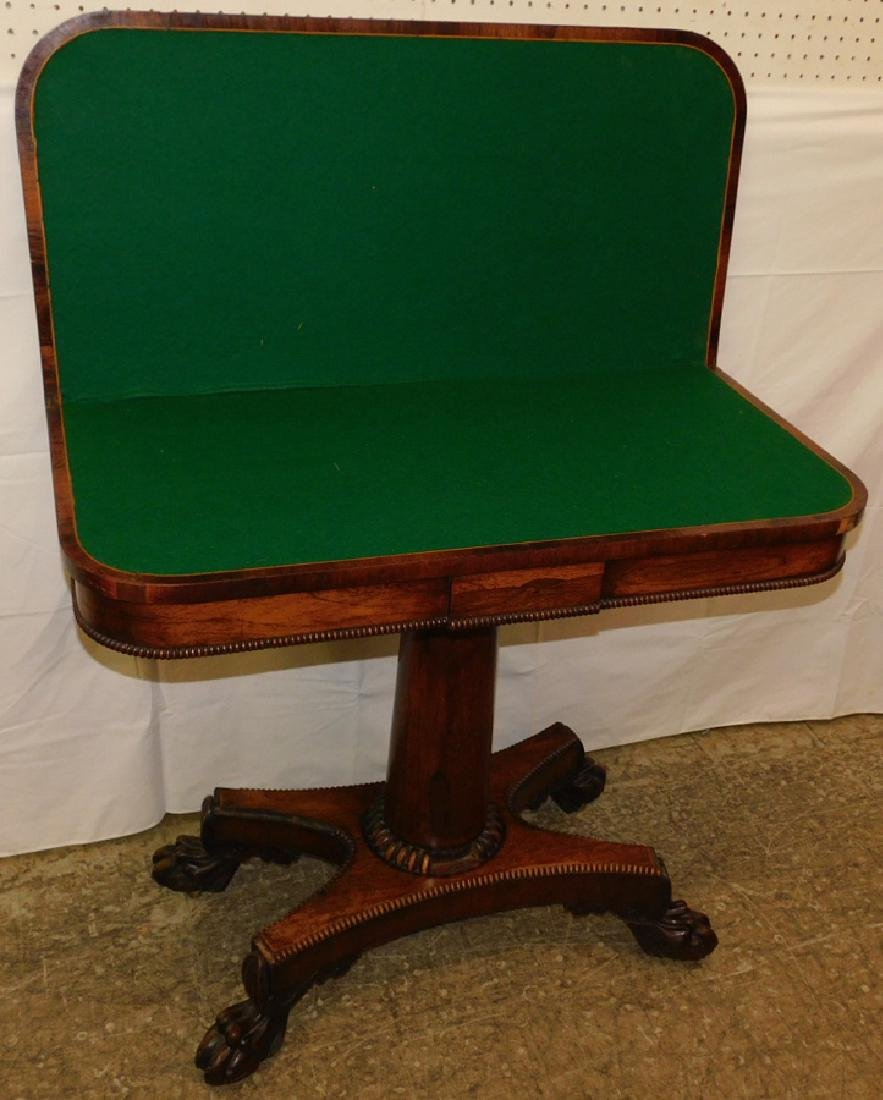 Rosewood Empire game table - 3