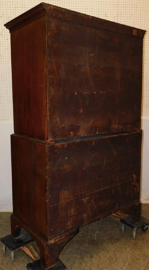 19th C mahogany chest on chest - 2