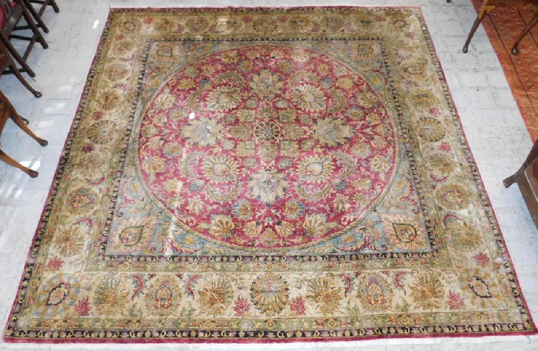 "10'1 x 10' 3"" Handmade silk Oriental rug"