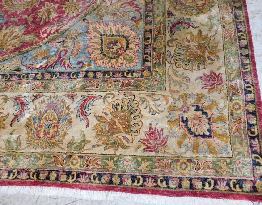 "10'1 x 10' 3"" Handmade silk Oriental rug - 2"