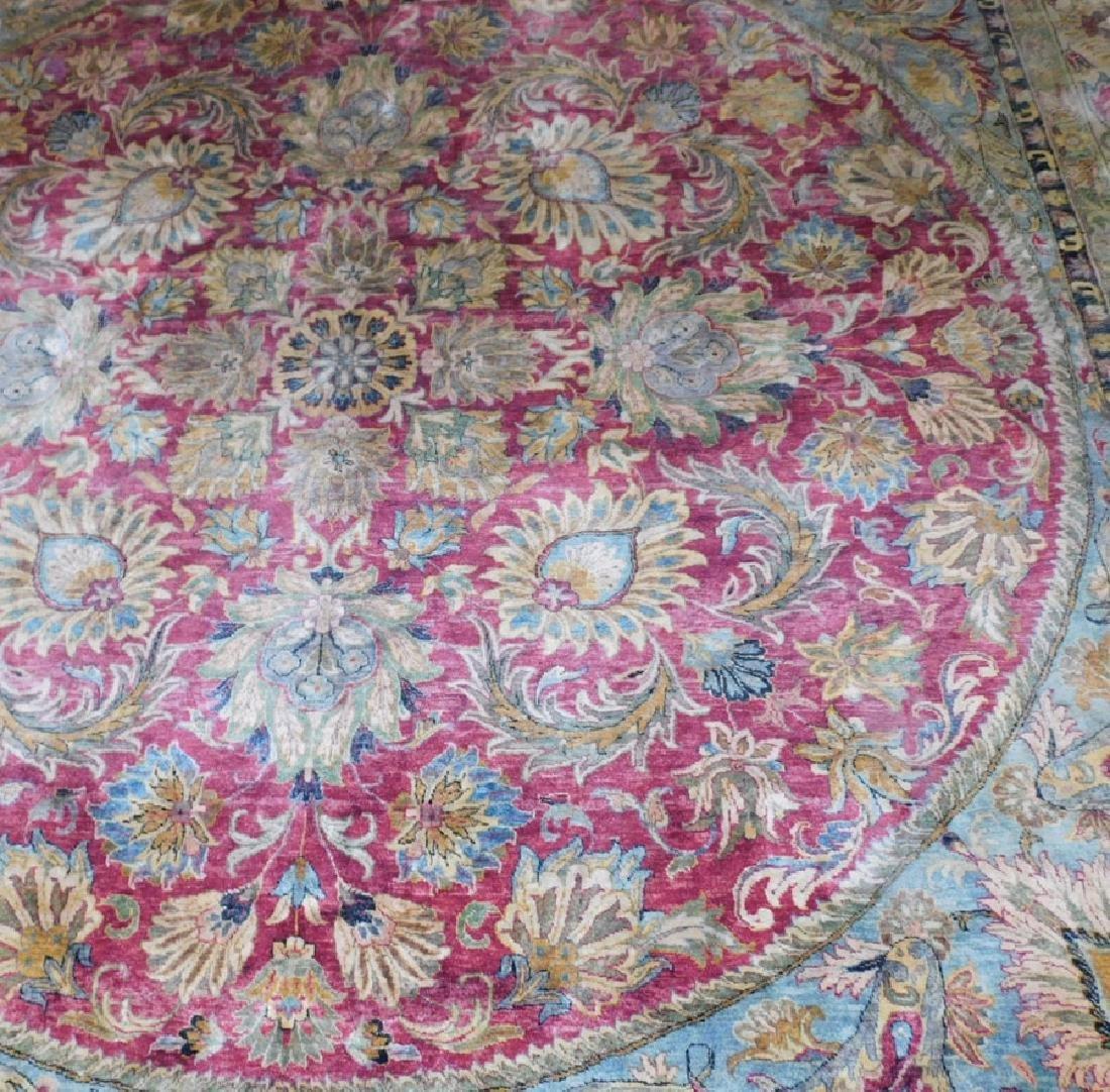 "10'1 x 10' 3"" Handmade silk Oriental rug - 3"