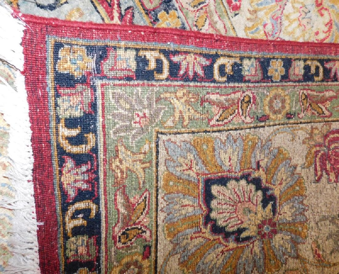 "10'1 x 10' 3"" Handmade silk Oriental rug - 4"