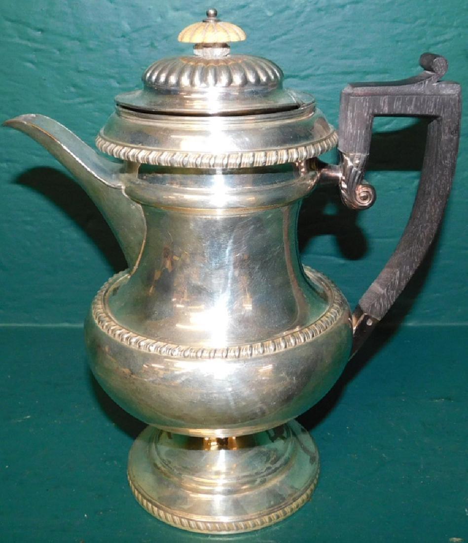 Old Sheffield plate coffee pot