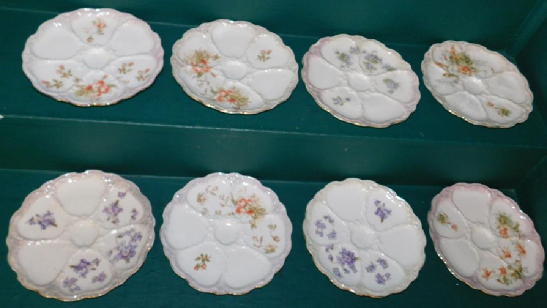 8 German oyster plates